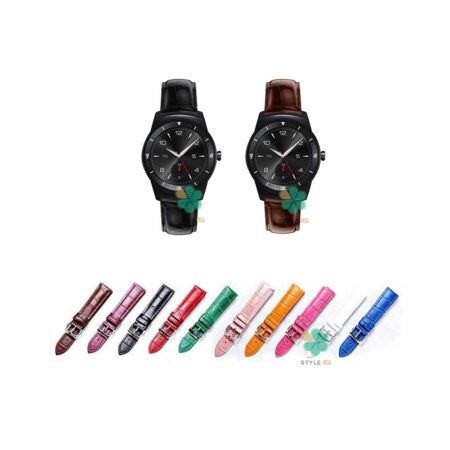 خرید بند چرمی ساعت ال جی LG G Watch R W110 طرح Alligator