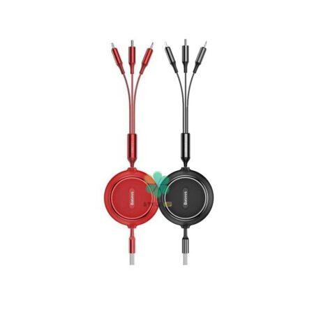 خرید کابل شارژ 3 سر بیسوس Baseus Golden Loop 3-in-1 CAMLT-JH01