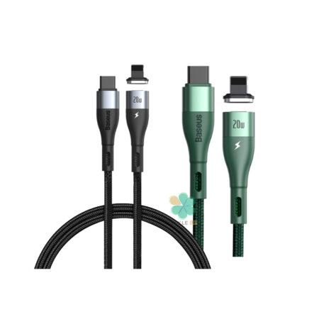 خرید کابل شارژ مگنتی تایپ سی به ایفون بیسوس مدل Baseus Zinc Magnetic 2m