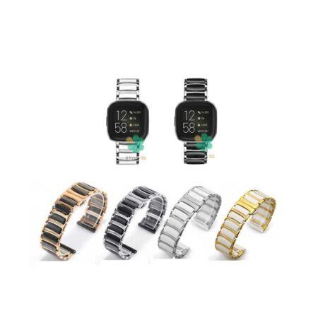خرید بند ساعت فیت بیت ورسا Fitbit Versa مدل سرامیکی Monowear