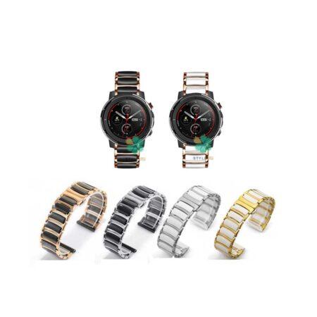 خرید بند ساعت شیائومی Xiaomi Amazfit Stratos 3 مدل سرامیکی Monowear