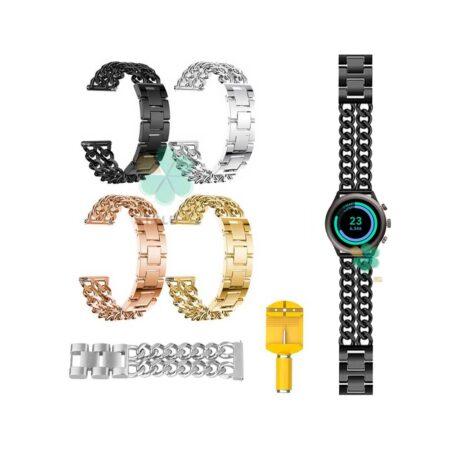خرید بند ساعت هوشمند فسیل اسپرت Fossil Sport مدل استیل زنجیری