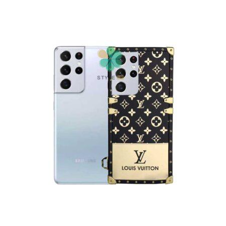 خرید قاب گوشی سامسونگ Galaxy S21 Ultra مدل صندوقی لویی ویتون