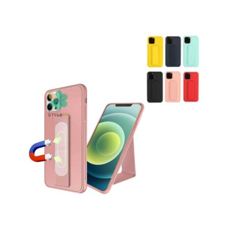 خرید قاب گوشی ایفون iPhone 12 Pro Max مدل سیلیکونی هولدردار