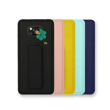 خرید قاب گوشی شیائومی Xiaomi Poco X3 مدل سیلیکونی هولدردار
