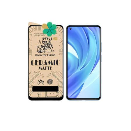 خرید گلس سرامیکی مات گوشی شیائومی Xiaomi Mi 11 Lite