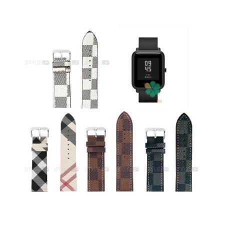 خرید بند ساعت شیائومی Xiaomi Amazfit Bip Lite طرح لویی ویتون