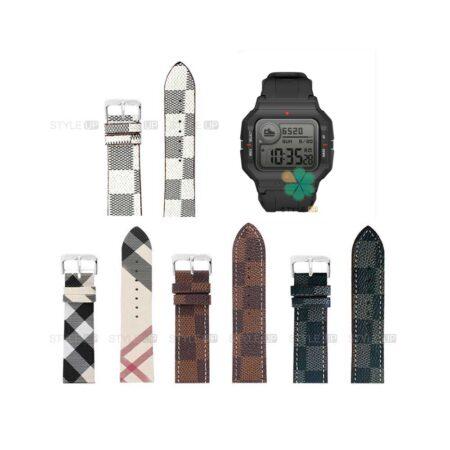 خرید بند ساعت شیائومی Xiaomi Amazfit Neo طرح لویی ویتون