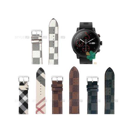 خرید بند ساعت شیائومی Xiaomi Amazfit Stratos Plus طرح لویی ویتون