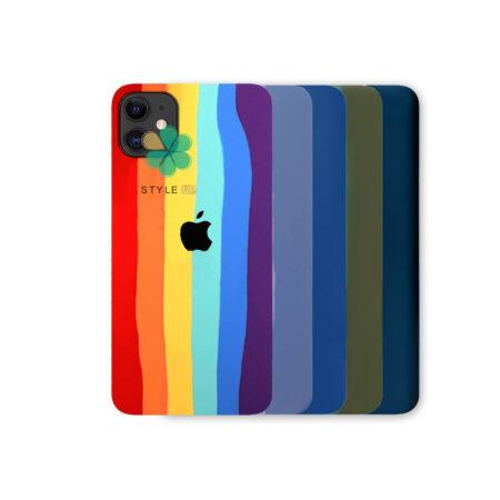 خرید قاب سیلیکونی گوشی اپل آیفون Apple iPhone 12 مدل رنگین کمان