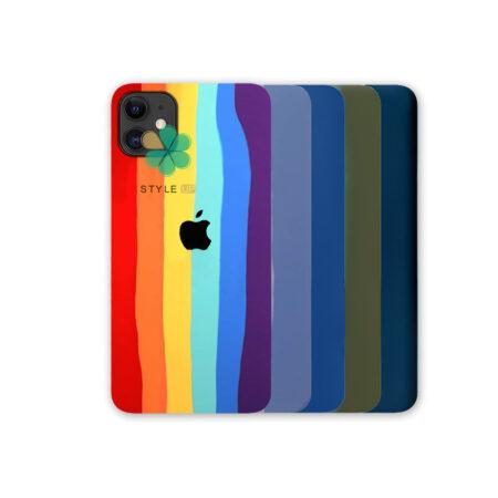 خرید قاب سیلیکونی گوشی آیفون Apple iPhone 12 Mini مدل رنگین کمان