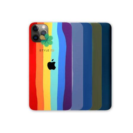 خرید قاب سیلیکونی گوشی آیفون Apple iPhone 12 Pro مدل رنگین کمان