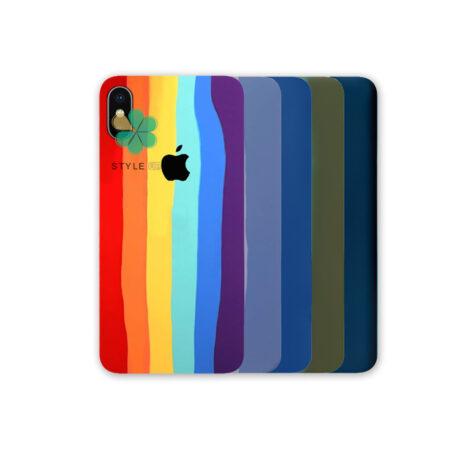 خرید قاب سیلیکونی گوشی آیفون Apple iPhone XS Max مدل رنگین کمان