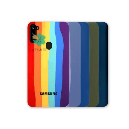 خرید قاب سیلیکونی گوشی سامسونگ Samsung Galaxy A11 مدل رنگین کمان