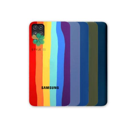 خرید قاب سیلیکونی گوشی سامسونگ Samsung Galaxy A12 مدل رنگین کمان