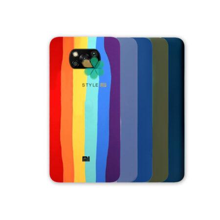 خرید قاب سیلیکونی گوشی شیائومی Xiaomi Poco X3 Pro مدل رنگین کمان