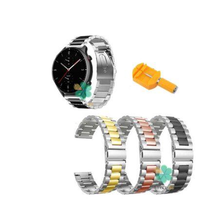 خرید بند ساعت امازفیت Amazfit GTR 2e مدل استیل دو رنگ