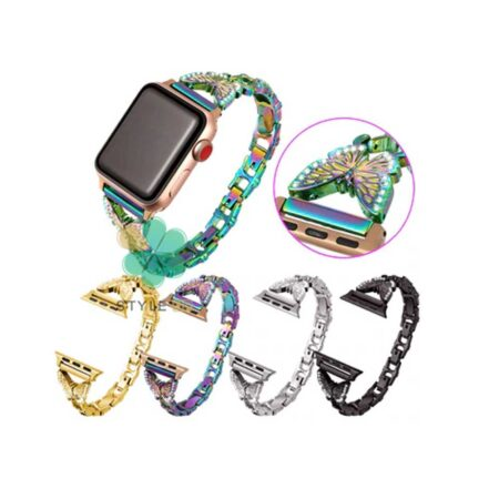 خرید بند زنانه ساعت اپل واچ Apple Watch 42/44mm برند Slicto مدل Butterfly