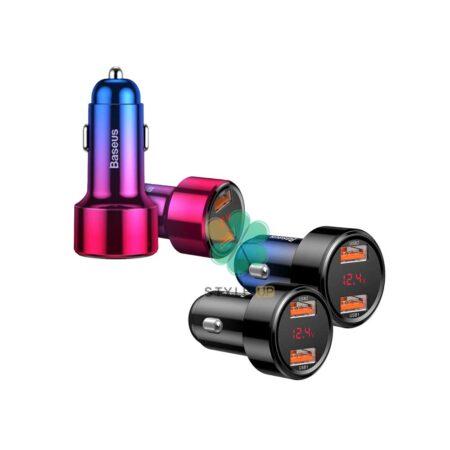 خرید شارژر فندکی ماشین بیسوس مدل Baseus Aurora color