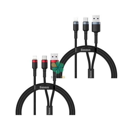 خرید کابل شارژ لایتنینگ به تایپ سی و یو اس بی بیسوس Baseus CATKLF-ELG1