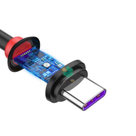 خرید کابل شارژ تایپ سی هواوی بیسوس مدل Baseus Purple Ring CATZS-02