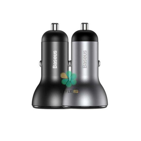 خرید شارژر فندکی ماشین بیسوس Baseus Dual SCP Digital 45w