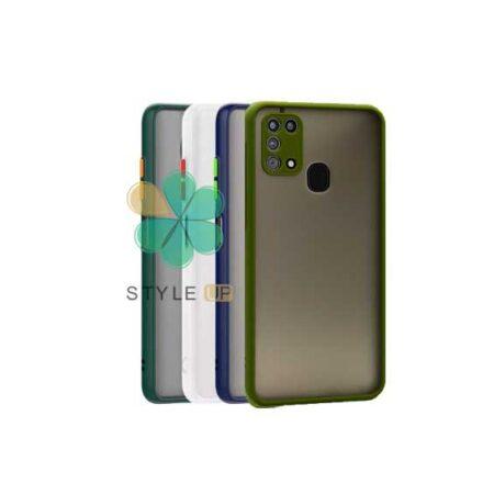 خرید قاب گوشی سامسونگ Galaxy M31 مدل پشت مات محافظ لنزدار