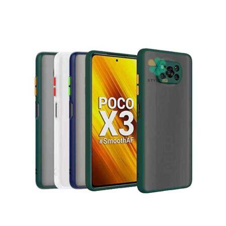 خرید قاب گوشی شیائومی Poco X3 Pro مدل پشت مات محافظ لنزدار