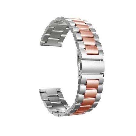 خرید بند ساعت ال جی LG G Watch W100 مدل استیل دو رنگ