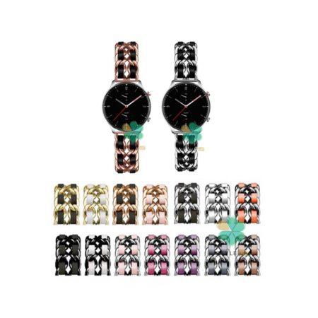 خرید بند استیل ساعت امازفیت Amazfit GTR 2e مدل چرمی زنجیری