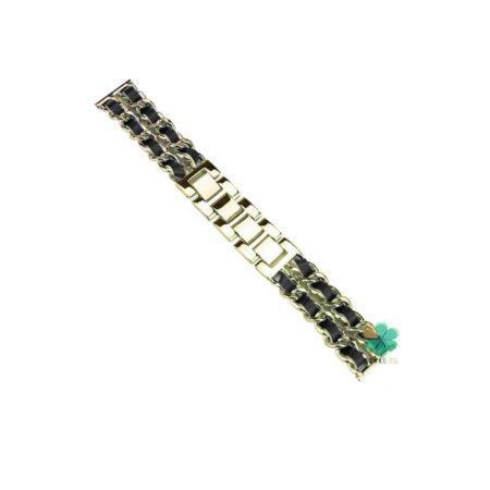 خرید بند استیل ساعت امازفیت Amazfit GTS 2 Mini مدل چرمی زنجیری