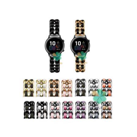 خرید بند استیل ساعت هواوی Honor Magic Watch 2 42mm مدل چرمی زنجیری