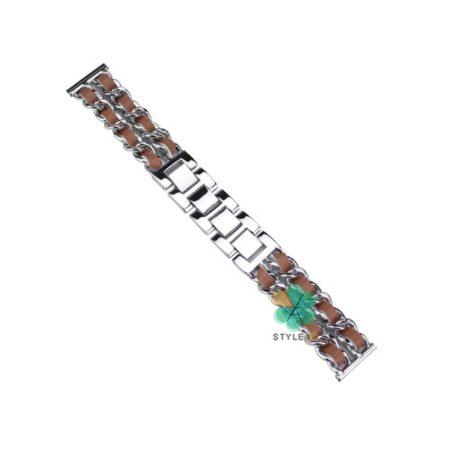خرید بند استیل ساعت ال جی LG G Watch R W110 مدل چرمی زنجیری