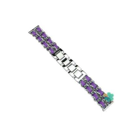 خرید بند استیل ساعت سامسونگ Galaxy Watch 3 45mm مدل چرمی زنجیری