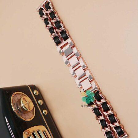 خرید بند استیل ساعت سامسونگ Galaxy Watch 46mm مدل چرمی زنجیری