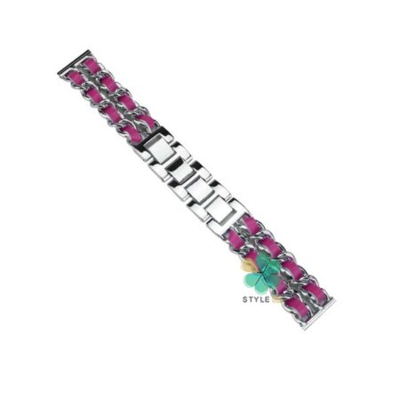 خرید بند استیل ساعت سامسونگ Galaxy Watch Active 2 مدل چرمی زنجیری