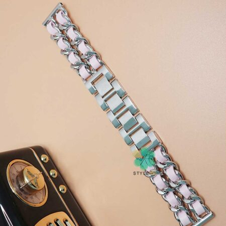 خرید بند استیل ساعت سامسونگ Samsung Gear Sport مدل چرمی زنجیری