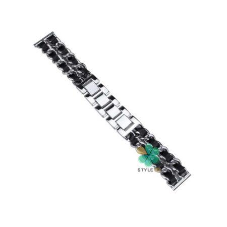 خرید بند استیل ساعت شیائومی Xiaomi Haylou RT LS05S مدل چرمی زنجیری