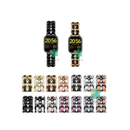 خرید بند استیل ساعت شیائومی Omthing E-Joy WOD001 مدل چرمی زنجیری