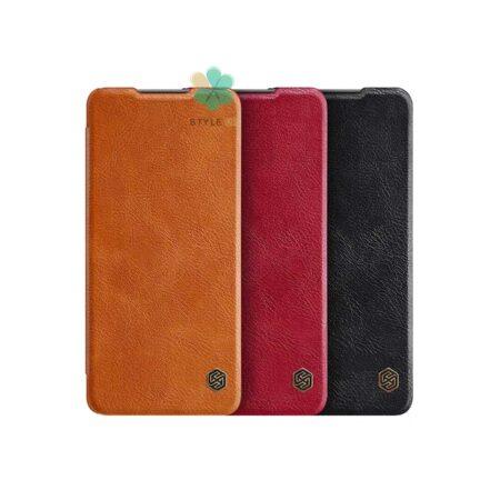 خرید کیف چرمی نیلکین گوشی شیائومی Xiaomi Redmi Note 10 Pro مدل Qin