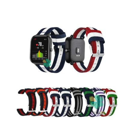 خرید بند ساعت هوشمند امازفیت Amazfit GTS 2 Mini مدل نایلونی