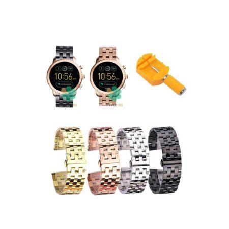 خرید بند ساعت هوشمند فسیل Fossil Q Explorist Gen 3 استیل 5Bead