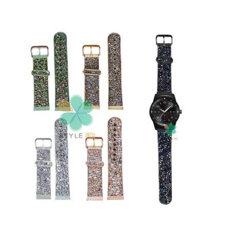 خرید بند اکلیلی ساعت ال جی LG G Watch R W110 طرح سواروسکی