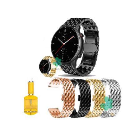 خرید بند ساعت شیائومی Xiaomi Amazfit GTR 2 مدل فلزی طرح دراگون