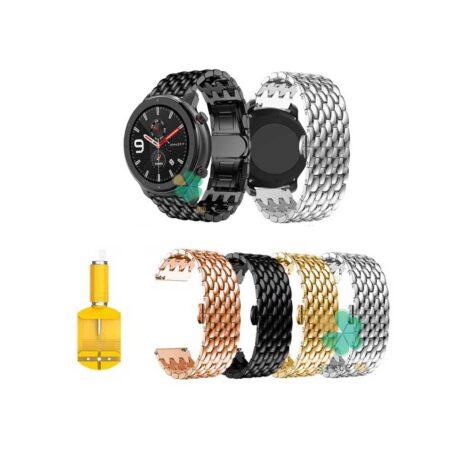 خرید بند ساعت شیائومی Xiaomi Amazfit GTR Lite مدل فلزی طرح دراگون