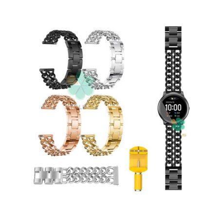 خرید بند ساعت هوشمند شیائومی Haylou Solar LS05 مدل استیل زنجیری