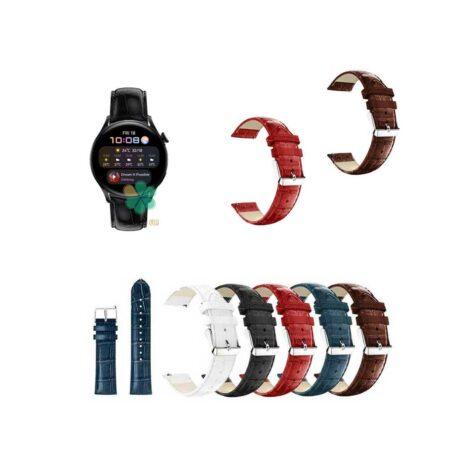 خرید بند چرمی ساعت هواوی واچ Huawei Watch 3 طرح Alligator