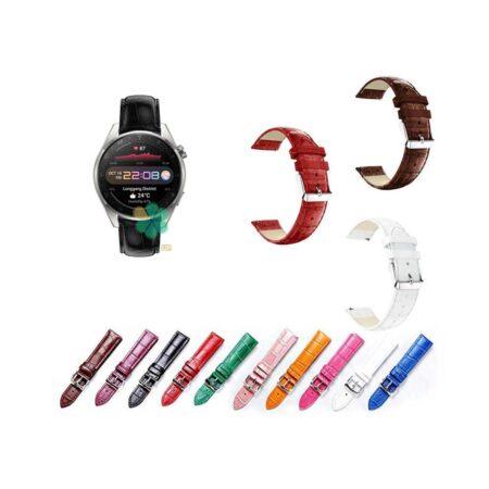 خرید بند چرمی ساعت هواوی واچ Huawei Watch 3 Pro طرح Alligator