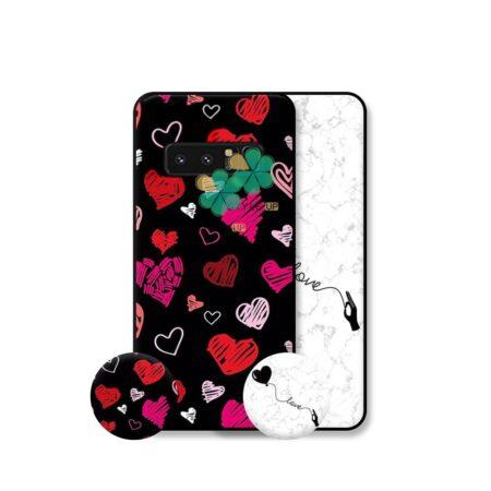 خرید قاب هنری گوشی سامسونگ Galaxy Note 8 مدل Love Art