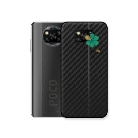 خرید کاور کربنی گوشی شیائومی Xiaomi Poco X3 مدل Carbon Steps
